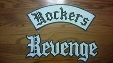 Rockers Revenge synthetic leather 2 piece back patch 59 Club.Triumph.Cafe Racer