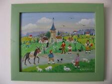 """Charlotte Julian - """"Le berger"""" - Art Naïf - Acrylique - Tableau -"""