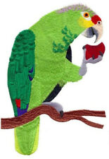 """Red-Lored Amazon Parrot Embroidered Patch 3.9"""" x 4.6"""""""
