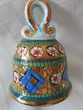 Unique Pottery Hand Bell, Made In Rome Italy