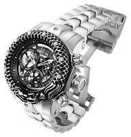 Invicta 31498 Venom Men's Watch NEW 54MM Black Dial Stainless Steel Bracelet