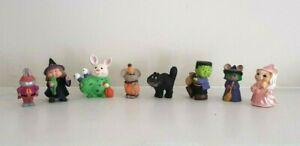Hallmark merry miniature Halloween witch black cat Frankenstein alien lot