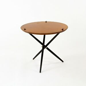 1951 Hans Bellman Small Tripod Table for Knoll Associates No. 103 with 24 in Top