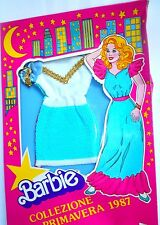 ABITO BARBIE  DRESS COLLEZIONE PRIMAVERA  DOUBLE FACE MATTEL 8788  VINTAGE 1987