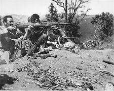 WWII B&W Photo US Marines Engage Enemy  Burma 1919 1903 Sniper Rifle  WW2 / 1156