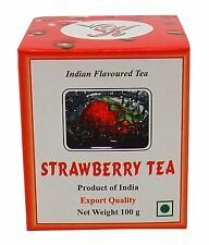 Indian Flavoured Strawberry Fruit Tea Pure Assam Black Tea- 100 gm