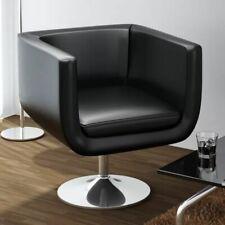 vidaXL Moderna Silla Ajustable Negro Cromo Cuero Artificial Hogar Oficina Mueble