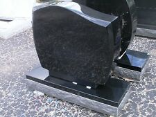 Cemetery headstone marker tombstone-highest quality black granite engraving incl