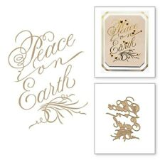 Peace on Earth HOT FOIL PLATE Silver Metal Cutting Dies DIY Cards Scarpbooking