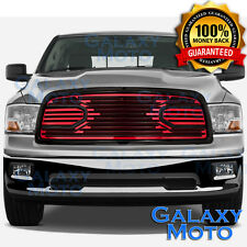 09-12 Dodge RAM 1500 Front Hood Big Horn Black+Red Replacement Grille+Shell