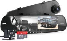 "4.3"" 1080P Dual Lens Car DVR Dash Video Camera Recorder Rearview Mirror US Stock"