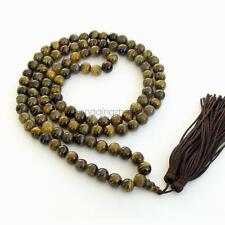 8mm 108 Atrovirens Tiger Gem Gem Bracelet Prayer Beads Buddhist Mala Necklace