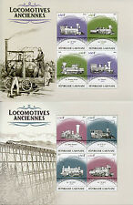 Gabon 2016 MNH Old Locomotives Steam Trains 4v M/S III & IV Railways Stamps
