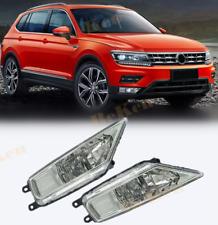 Left +Right Fog Light With H8 Bulbs Driving Lamp For Volkswagen Tiguan 2017 2018