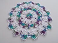 New Handmade Crocheted 10 Inch Round Crocheted Doily Monet ~ White Doilie