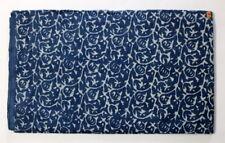 Hand Block Print 100% Cotton Natural Indigo Indienne India Dabu Fabric Dye