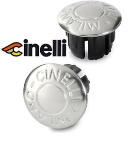 2- CINELLI MILANO BAR END PLUGS CAPS FOR ROAD TRACK RACING BIKES *COLORS VARY