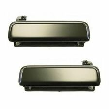 Pair Door Handles Metal Outer Black Left & Right Fits 79-93 Ford Mustang - NEW
