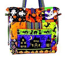 Halloween Handmade Tote bag, ~ 100% Cotton ~ Prewashed Fabric # B