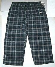Nwt New York Yankees NY MLB Baseball Sleepwear Sleep Pants Plaid Flannel Blu Men