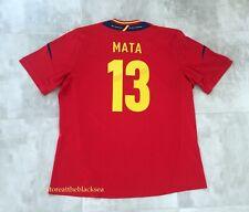 SPAIN NATIONAL TEAM 2012 2013 #13 MATA HOME FOOTBALL SOCCER SHIRT JERSEY MEN 2XL