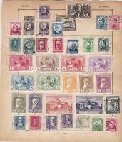 spain & sweden stamps page ref 17614