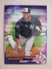 2017 Bowman Chrome Purple Shimmer Parallel James Kaprielian BCP237 Yankees