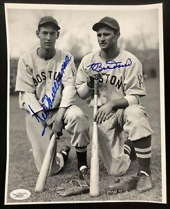 Ted Williams Signed Photo 8x10 Baseball Bobby Doerr Autograph Red Sox HOF JSA