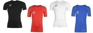 Kids Compression Base Layer Sondico Short Sleeve Soccer Skins T-Shirt Size 7-8
