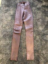 Joseph Brown Leather Strechy Leggings FR34