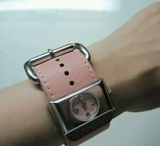MARC JACOBS CUFF LEATHER WATCH-PINK