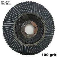 10 pz disco lamellare in nylon allo zirconio 115 x 22 mm grana 100 13300 R.P.M