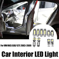 10pcs White Canbus LED Interior Light Bulb Package Kit For VW MK5 GOLF GTI  ρ