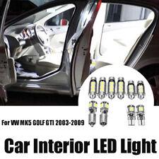 10pcs White Canbus LED Interior Light Bulb Package Kit For VW MK5 GOLF GTI 03-09
