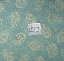 Storehouse TEAL GREEN PAISLEY 4pc QUEEN Bed SHEET SET Cream 100% Cotton NEW