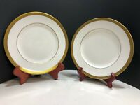 Wedgwood Bone China Senator Salad Plates Set of Two (2) Gold Encrusted Laurel