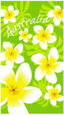 Lime Frangipani Beach   Pool Bath Towel   100% Cotton   Flowers   Australia