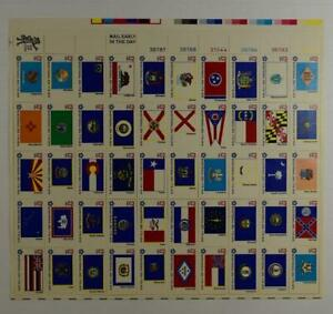 10 SHEETS OF US SCOTT 1633 - 1682 FLAGS PANE OF 50 STAMPS 13 CENTS FACE MNH