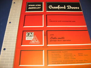 1950's Crawford Marvel-Lift Overhead Type Garage Door catalog Vintage Retro GM