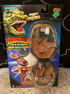 1994 TOHO Micro Battle Mecha Godzilla King of Monster's Trendmasters Play Set