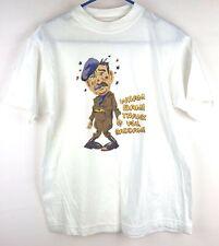Vintage Hanes Saddam Hussein Mens Medium T-Shirt Gulf War