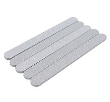10 X Grey Nail Files Sanding 100/180 Double Sided Round Nail Art Tips Manicure
