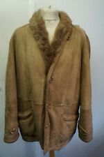 VINTAGE MAN'S TOSCANA SHEEPSKIN DOUBLE BREASTED COAT JACKET SIZE 52 (UKXL)