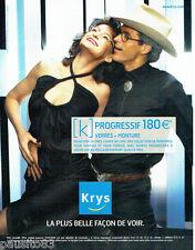 PUBLICITE ADVERTISING  016  2005  Krys  optique lunettes  verres progressifs