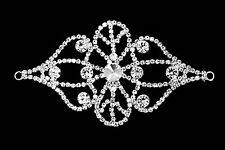 Strassstein Diamant Applikation zum Aufnähen Motiv Hochzeit Silber Kristall A146