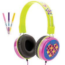 Griffin MyPhones Crayola Over Head Wired Headphones Kids Girls Pink GC36540