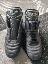 Vintage Reebok Quest SG Football Boots Leather Rare Mens 12 Black