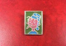 Pin Brooch Badge SOVIET PINOCCHIO USSR RUSSIA. Rare Buratino Portrait