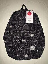 Herschel Supply Co. x  Jean-Michel Basquiat Classic Black Backpack Unisex NEW!