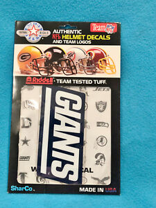 AUTHENTIC NFL TEAM LOGO WINDOW DECALS - RIDDELL - GIANTS
